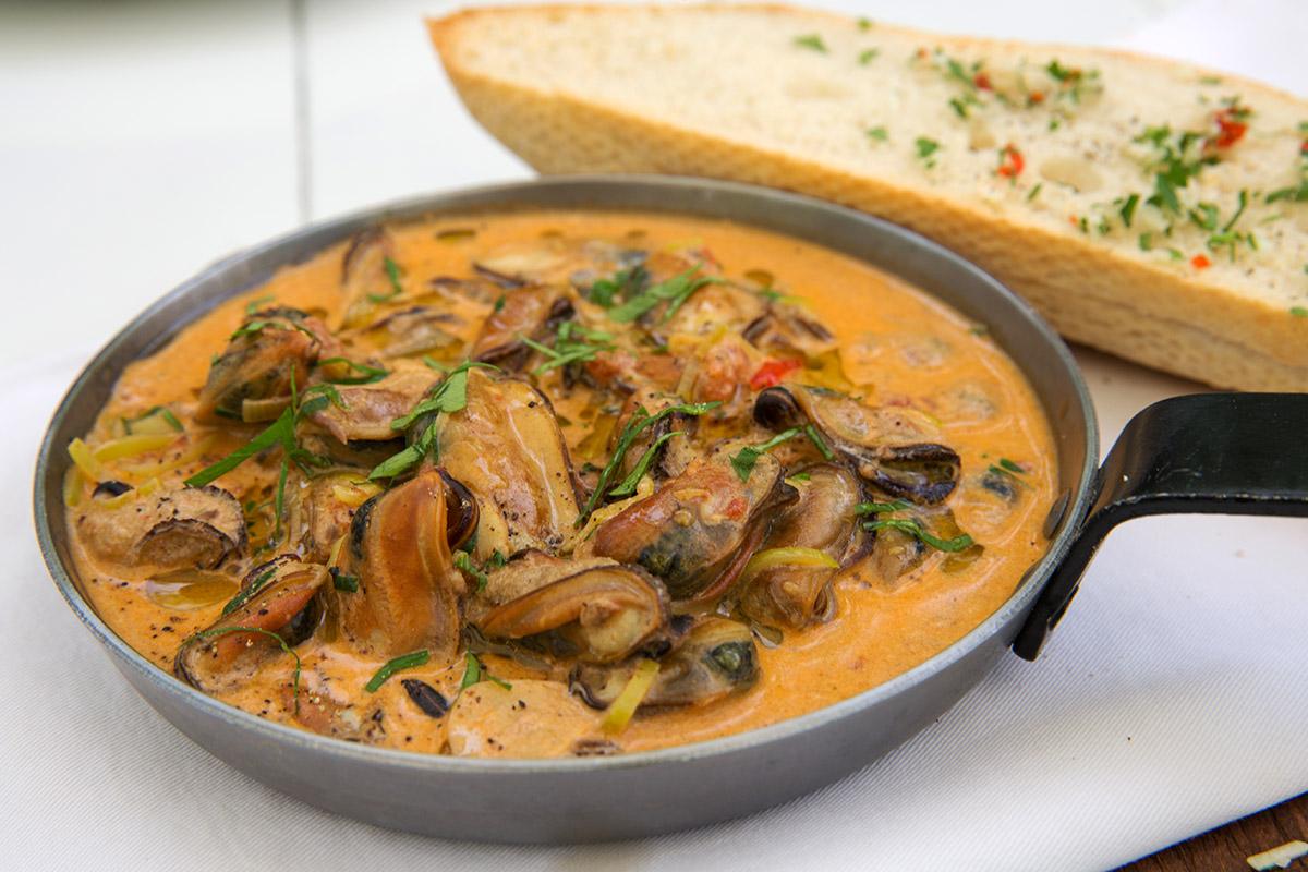 Мясо мидий в раковом супе обойдётся в 224 гривны.