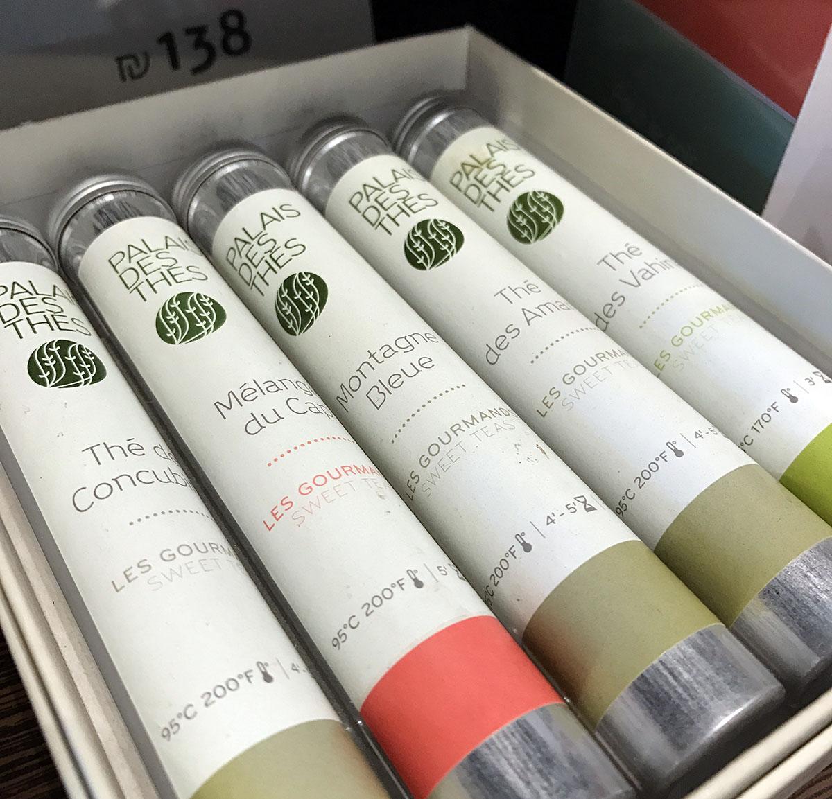 Пять колбочек с чаем обойдутся в 138 шекелей (1035 гривен).