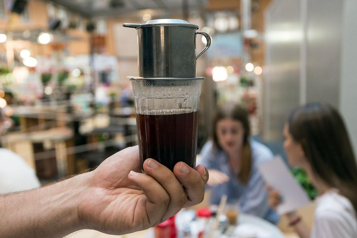 Если не любите кофе со сгущёнкой, можно взять без сгущёнки.